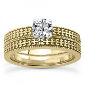 engraved-diamond-bridal-set-yellow-gold-ENS3601YSETC