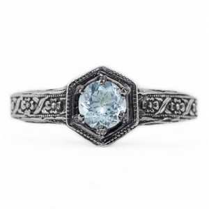 floral-ribbon-design-vintage-style-aquamarine-ring-R063AQC