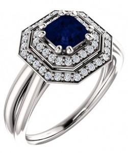 asscher-cut-blue-sapphire-diamond-halo-bridal-ring-set