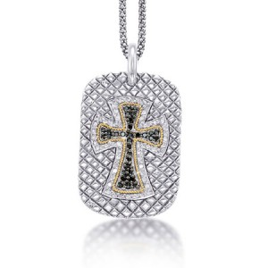 blac-and-white-diamond-cross-dog-tag-necklace-138KP000200M1C