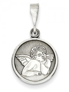 white-gold-angel-medallion-pendant-D1509C