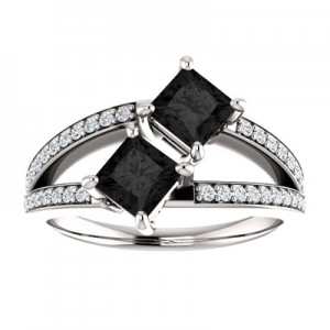 1-carat-princess-cut-black-diamond-two-stone-engagement-ring-122934BLK3C