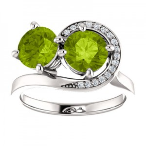 peridot-swirl-design-two-stone-ring-71807PD3C