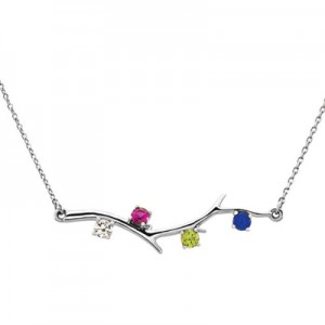 4-stone-14k-white-gold-birthstone-branch-necklace-86271-4WC