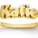 Personalized Name Rings in Gold and Silver