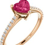 Heart-Shaped Gemstone and Diamond Rings