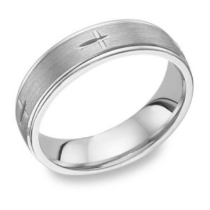 cross-etched-white-gold-wedding-band-ring