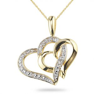 double-heart-diamond-necklace