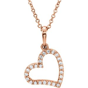 14k-rose-gold-dangle-heart-necklace