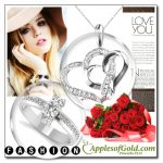 2-Stone Diamond Ring with Heart Necklace