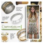Apples of Gold Jewelry Floral Wedding Bands