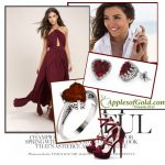 Garnet Heart Jewelry, Earrings & Rings