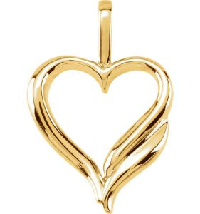 yellow-gold-heart-design-pendant
