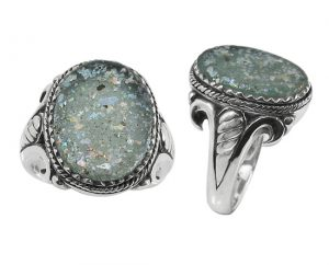 ancient-antique-roman-glass-ring-silver