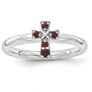 garnet-cross-ring-in-sterling-silver-qsk1630
