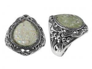 pear-shaped-roman-glass-ring-silver