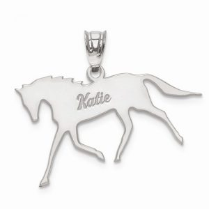 personalized-horse-pendant-silver