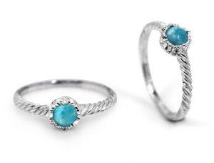 round-larimar-stone-silver-twist-ring
