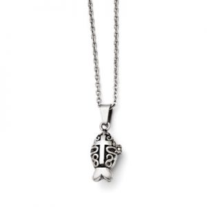 prayer-box-stainless-steel-icthus-neckalce-srn1386c