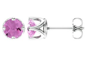 6mm-woven-pink-topaz-stud-earrings