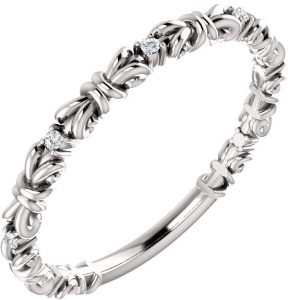 diamond-knot-stackable-ring