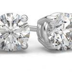 Platinum Round Diamond Stud Earrings: Rare and Extraordinary Beauty