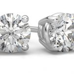 White Gold Diamond-Stud Earrings: A Compelling Couple
