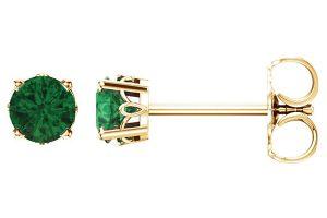 emerald-scroll-stud-earrings-14k-gold