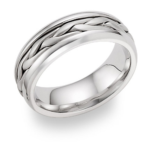 braided wedding band ring