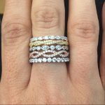 Gold and Silver Stackable Rings with Gemstones and Diamonds