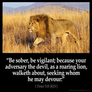 1 Peter 5:8 KJV