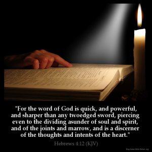 Hebrews 4:12 KJV