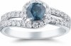 Jewelry Lovers Relax with a Blue Diamond Ring
