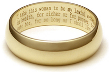 wedding vows are immensely powerful they are spoken from the heart filled with promise and emotion and can even be legally binding - With This Ring I Thee Wed