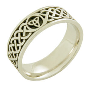 Many Celtic wedding bands are