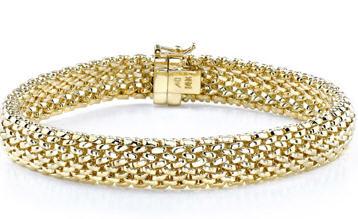 Wellendorff s 18k Silky Quartett bracelet. . Roberto Coin s 18k Bold Gold link bracelet. background: Brentano s