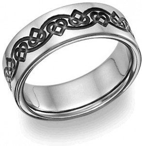 This titanium wedding band is
