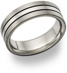 Black Titanium Wedding Bands