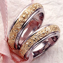 floral-wedding-band-two-tone-rings