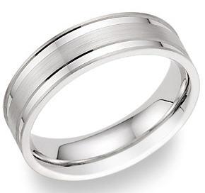 Platinum vs titanium wedding bands applesofgold platinum flat edge wedding band junglespirit Choice Image