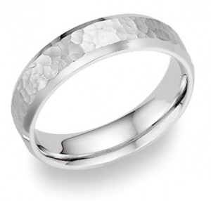platinum-hammered-wedding-band