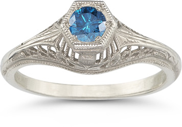 vintage-filigree-blue-diamond-engagement-ring