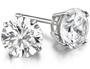 Diamond Stud Earrings Large