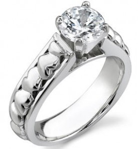 Heart ring - engagement ring