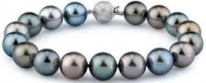 Tahitian black pearl multicolor bracelet