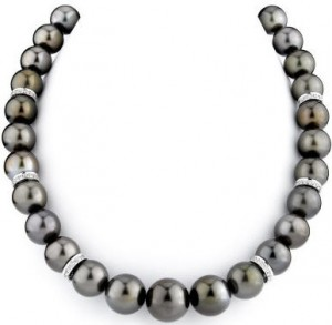 Tahitian pearl - chocolate necklace