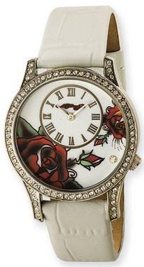 Ed Hardy watch - Antionette white