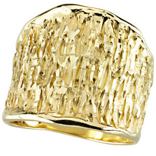 Organic Shaped Gold Ring
