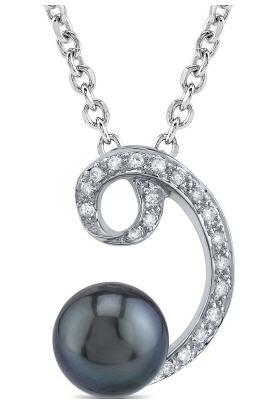 Tahitian black pearl luciana pendant