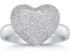 large diamond heart ring